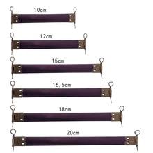 10PCS Metal Internal Flex Frames with Loops for Purses Handbag Coin Purse Sewing Internal Handbag Clip DIY Apparel Accessories