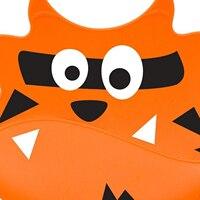 ABWE Bibs soft silicone baby and toddler bib with crumb catcher-Orange