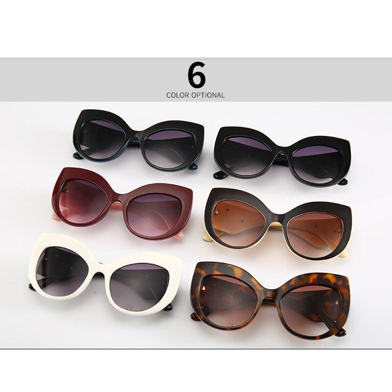 TOYEARN  2019 New Vintage Brand Design Ladies Cat Eye Sunglasses Women Diamond Frame  Luxury Sun Glasses For Female