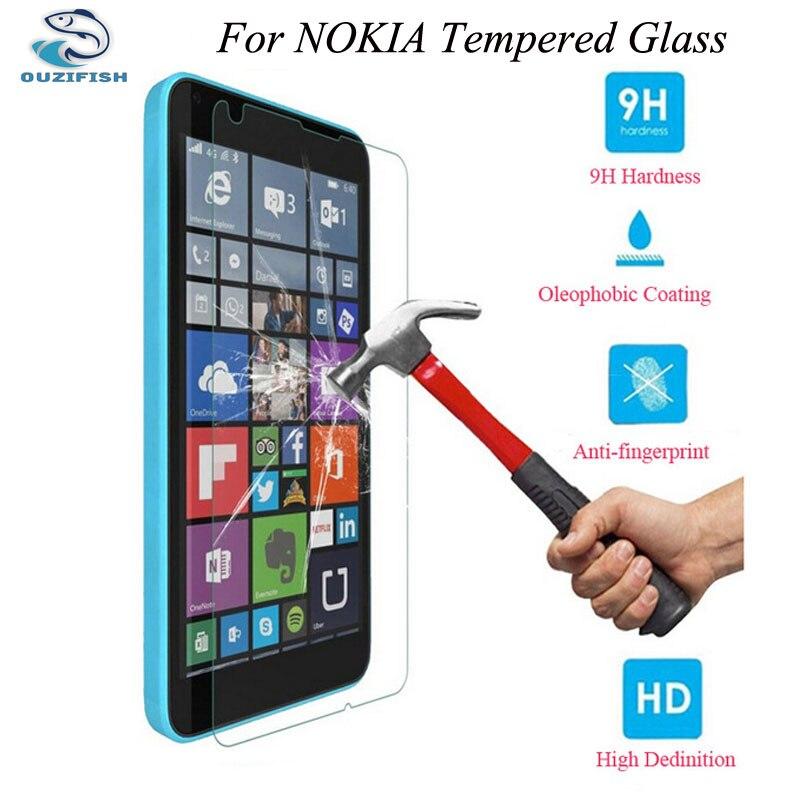 bilder für OUZIFISH 9 H Aus Gehärtetem Glas Für Microsoft Nokia Lumia X 520/521 530 535 630 830 930 1020 1320 1520 Premium Protector Film