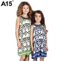 A15 kids jurk voor meisje 2017 zomer meisje strand tuniek jurk zuigeling gedrukt Jurk Tiener Prinses Ontwerp Jurk 8 10 12 14 16 Jaar