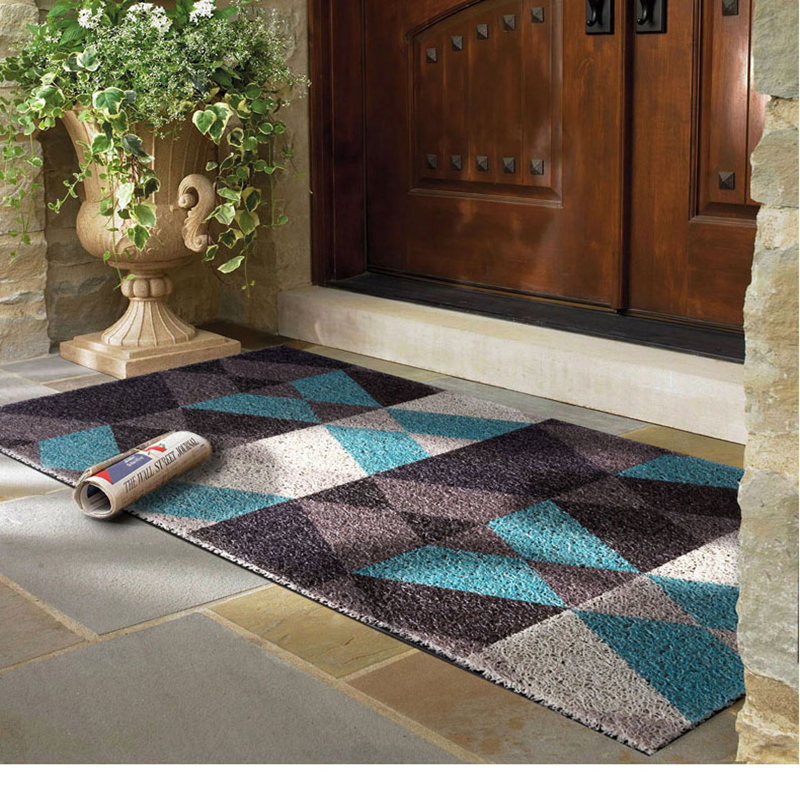 Hot Selling Geometric Pattern Door Mat Floor Carpet For Porch Rug Anti Slip Doormat Home Decor