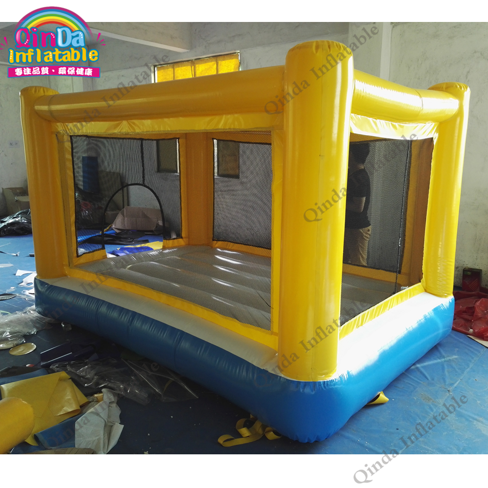 Hot Air-tight Jumping Bouncy Bouncing Castle for backyard party, Trampolines Inflatable Bouncer Kids Toys,jumping bed spiderman backyard kids mini nylon bounce house inflatable bouncer bouncy castle jumping castle with slide and blower for home u