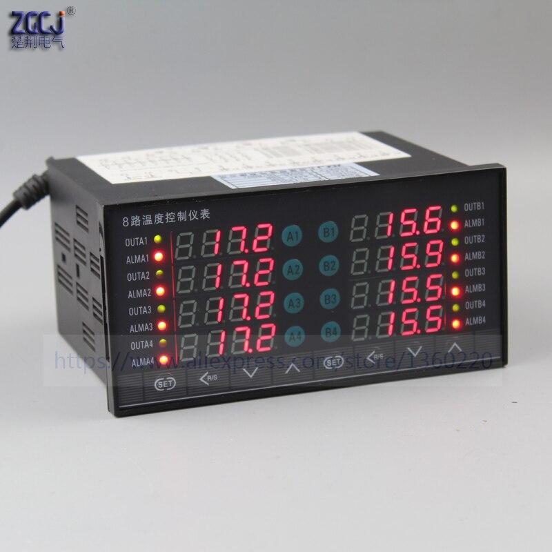 8 способов ССР Выход регулятор температуры измерения нескольких точек 8 каналов цифрового термостат с 8 способов постоянного напряжения пре