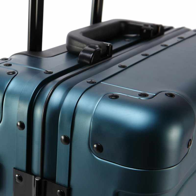 Nuevo moda 20 24 29 pulgadas equipaje rodante 100% aluminio Trolley de bolsa de viaje de 20 mujeres internado bolso llevar maletas maletero