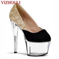 c19758d2ba Fashion Sexy High Heeled Shoes High Heels Round Head Platform Pump Shoes  Women S Wedding Party