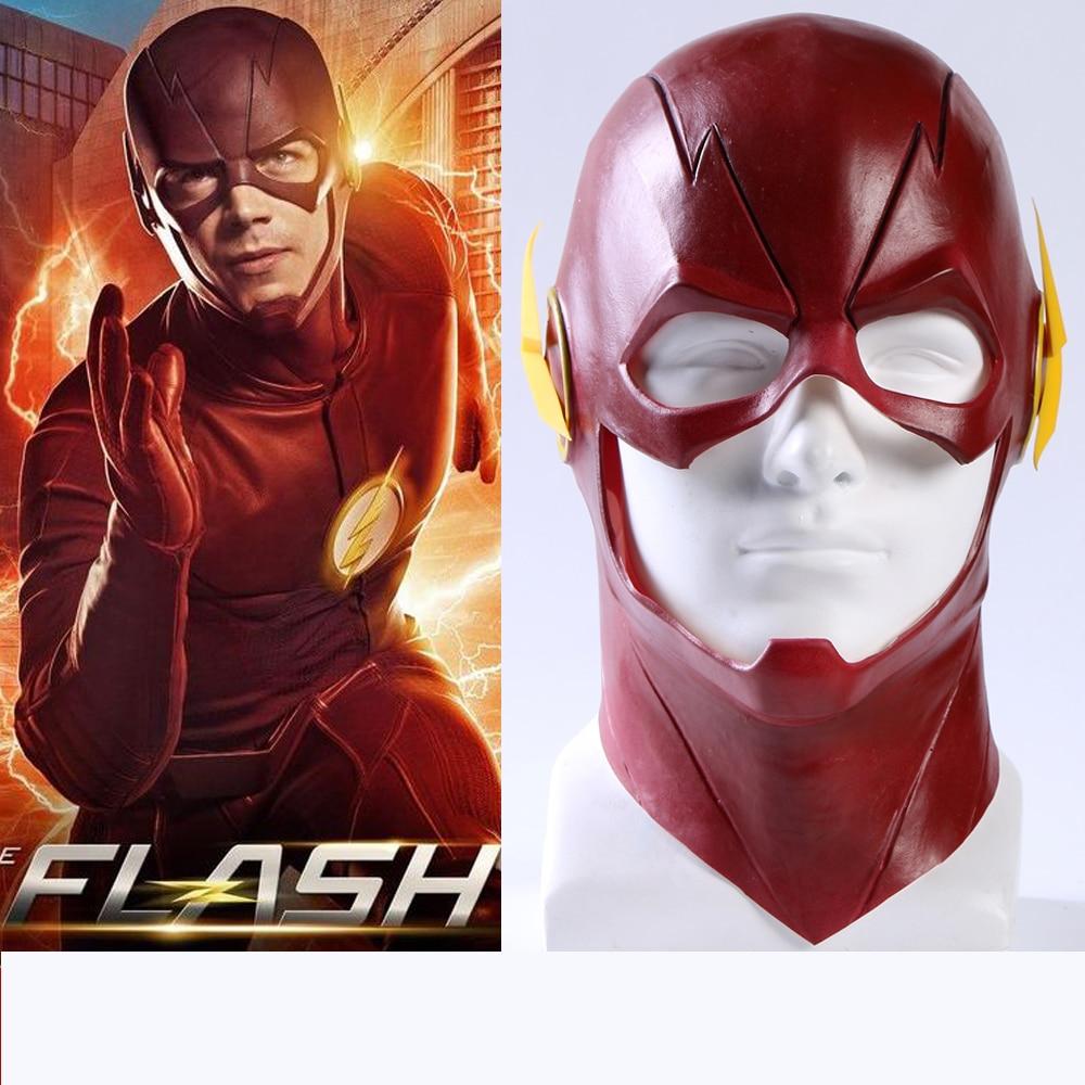 Seluruh Penjualan Flash Pria Masker Bernapas Emulsi Topeng Superhero Super Hero Full Face Halloween Party Cosplay Prop Aksesoris Di Anak Laki Kostum