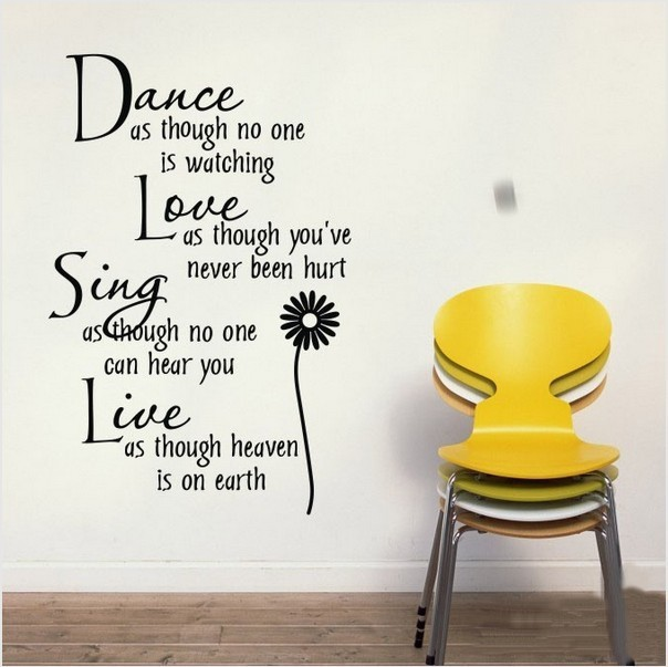 Buy Quote And Chrysanthemum Wall Sticker Removable Vinyl Wall Decal Home