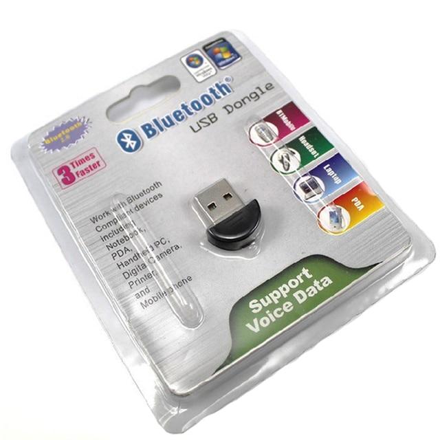 DHL#100pcs/lot Wholesale Bluetooth USB 2.0 Dongle Adapter smallest bluetooth adapter V2.0 EDR USB Dongle 100m PC Laptop