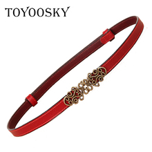 Vintage Belt 2018 New Arrivals Cowskin Leather Womens Genuine Luxury Solid Strap Female Fashion Woman