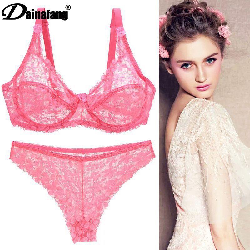 Sexy Breathable   Bra     Set   Large Size Ladies Fashion Underwear