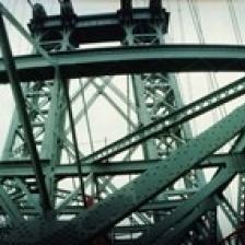 Low angle view of a suspension bridge  Williamsburg Bridge  New York City  New York State  USA Poster Print (30 x 13)