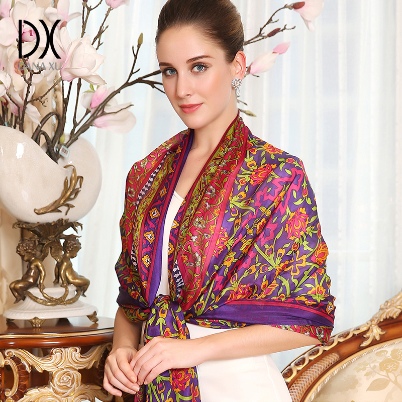 2017 Summer Solid Silk Scarf Women Chiffon Scarves Sunscreen ladies foulards femme shawl ...