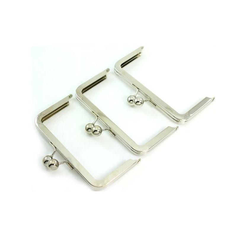 6 x 3 inches (15 x 7.5 cm) - Silver Clutch Purse Frame Nickle Locker