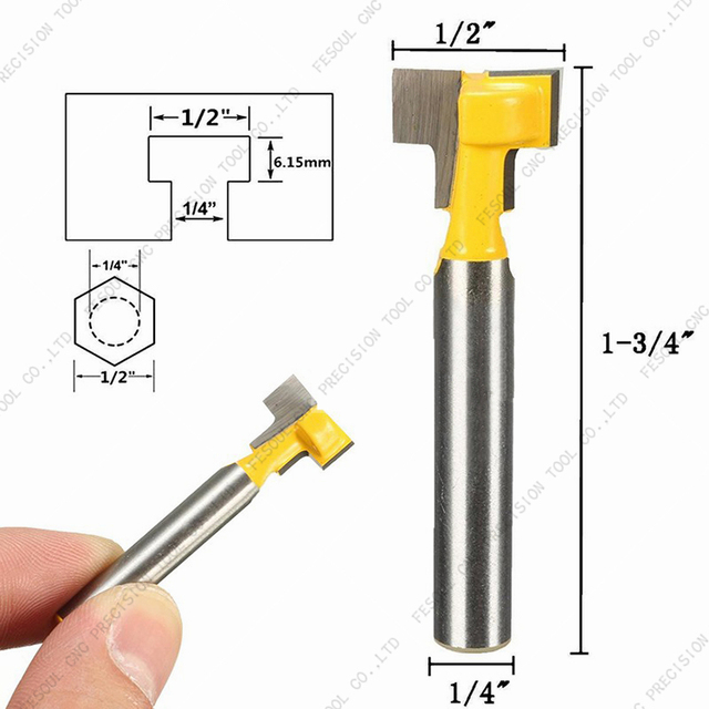 127mm 635mm 1 Stks Cnc Vhm Frees Houtbewerking Router Bit Keyhole Mes Frame Opknoping Gat Mes Frame Mes In 127mm 635mm 1 Stks Cnc Vhm