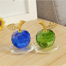 Hot Sell Crystal Apple Christmas present Romantic Eve Glass Crystals Craft Creative Birthday Present Home Decor