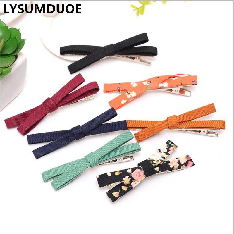 LYSUMDUOE однотонная заколка для волос для маленьких девочек, заколки для волос с цветком, одежда, заколки для волос, детская Подарочная заколка ...