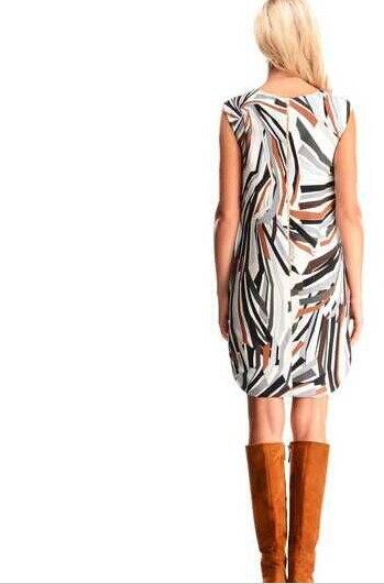 Nuevo 2015 diseñador de pasarela de verano para mujer manga corta moda geometría impresa XXL vestido de Jersey elástico es envío gratis-in Vestidos from Ropa de mujer    2