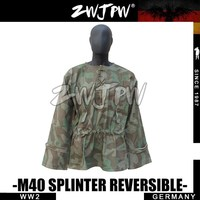 WWII WW2 ELITE M40 WH SPLINTER REVERSIBLE CAMO SMOCK DE/505129