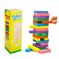Colorful Folds High Jenga Education Board Game Family/Party Best Gift for Children Building Blocks Game