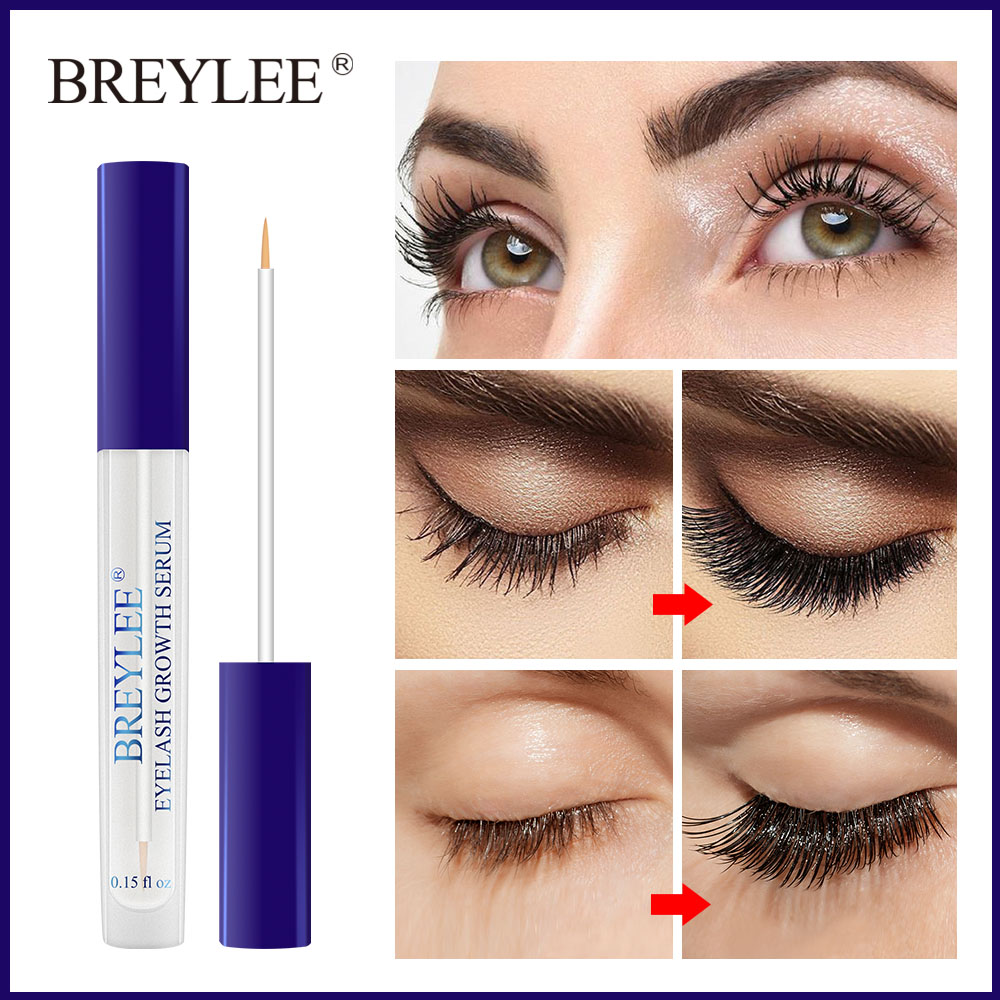 Breylee pestañas suero de crecimiento de pestañas potenciador ya Fuller más grueso ojo tratamiento líquido nuevo estilo de extensión de pestañas maquillaje