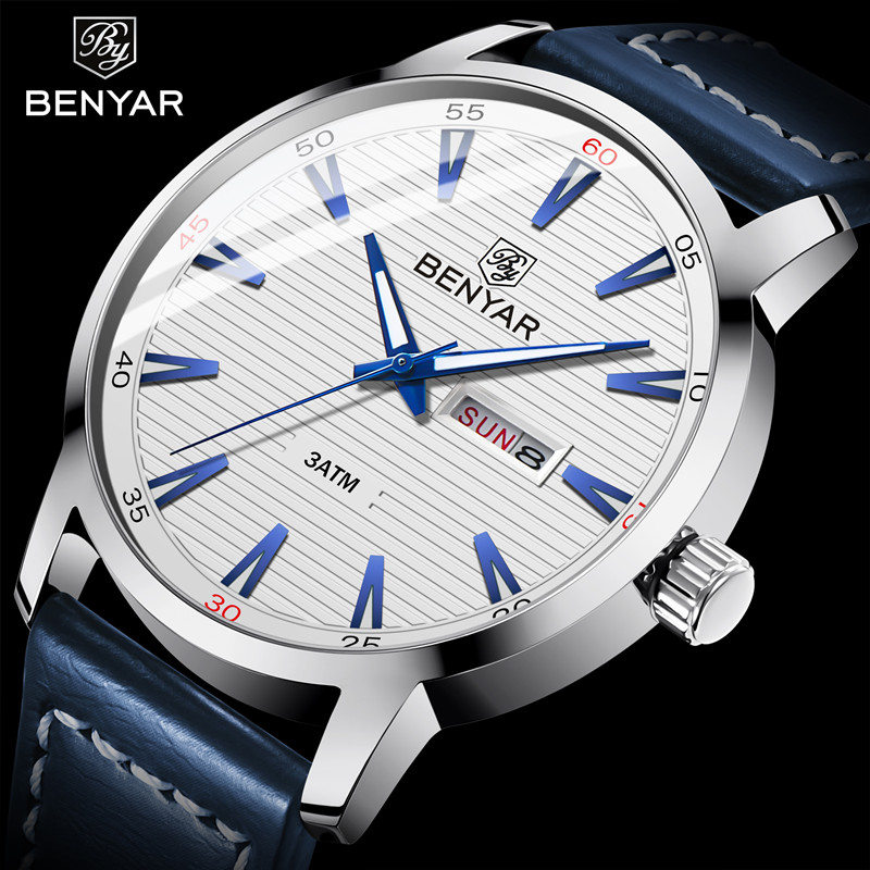 BENYAR 2018 New Casual Fashion Simple Quartz Watches Men Calendar Waterproof Top Luxury Brand Male Wrist Watch Relogio MasculinoBENYAR 2018 New Casual Fashion Simple Quartz Watches Men Calendar Waterproof Top Luxury Brand Male Wrist Watch Relogio Masculino