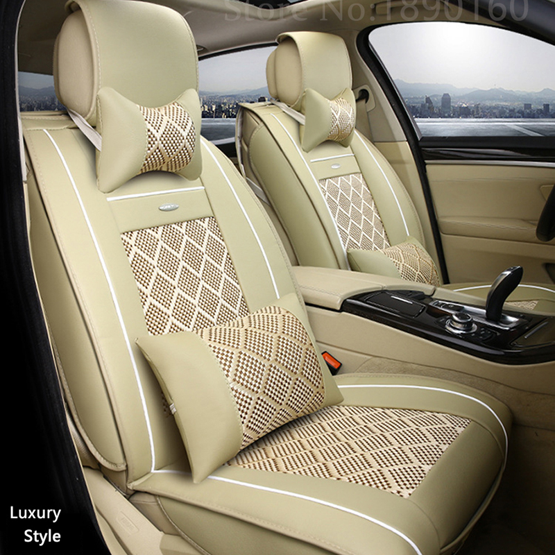 Breathable Leather car seat covers For Mitsubishi ASX Lancer SPORT EX Zinger FORTIS Outlander auto accessories