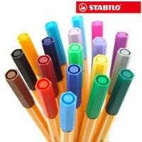 STABILO 25 màu sắc Nghệ Thuật Markers Set Phác Thảo Bản Vẽ Markers Đức Stabilo tốt bút 0.4 sợi mét đồ dùng học văn phòng