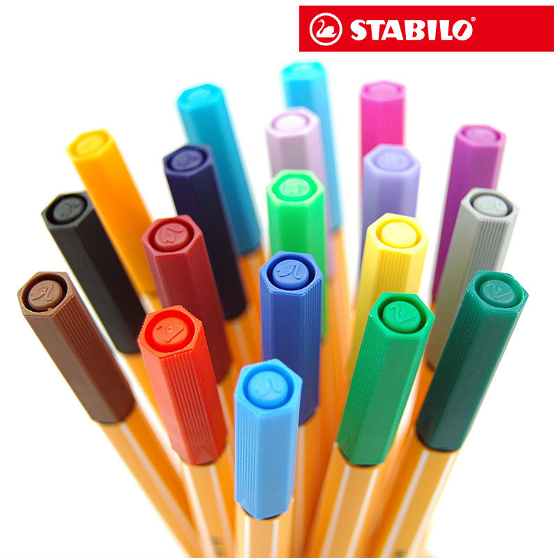 STABILO 25colors Art Markers Set Sketch Drawing Markers Deutschland Stabilo Feinfaserstift 0,4 mm Büro Schulmaterial
