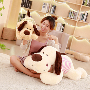 Image 5 - 1PC 70/95/110cm Kawaii Stuffed Soft Plush Toy Giant Lies Prone Dog Doll Cute Pillow Creative Dolls Kids Toys Birthday Gift