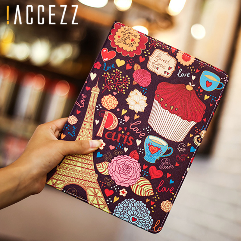 "4 2 3 !ACCEZZ Cartoon Flip Cover Tablet Sleeve For iPad Mini 1 2 3 4 7.9"" inches Holder Stand Smart Sleep Wake Up Full Protective Case (1)"