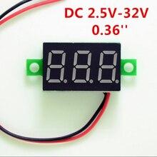 DIY красный синий цифровой светодиодный мини дисплей модуль DC2.5V-32V DC0-100V вольтметр тестер напряжения измерительный прибор с панелью для мотоцикла
