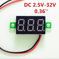 DIY красный синий цифровой светодиодный мини дисплей модуль DC2.5V-32V DC0-100V вольтметр тестер напряжения измерительный прибор с панелью для мотоц...