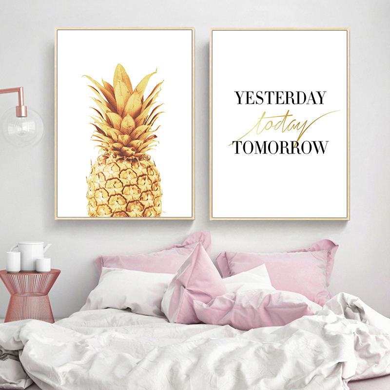 Pink-Ananas-Posters-Plants-Pineapple-Wall-Art-Pictures-Nordic-Canvas-Landscape-Painting-Modern-Living-Room-Print (3)