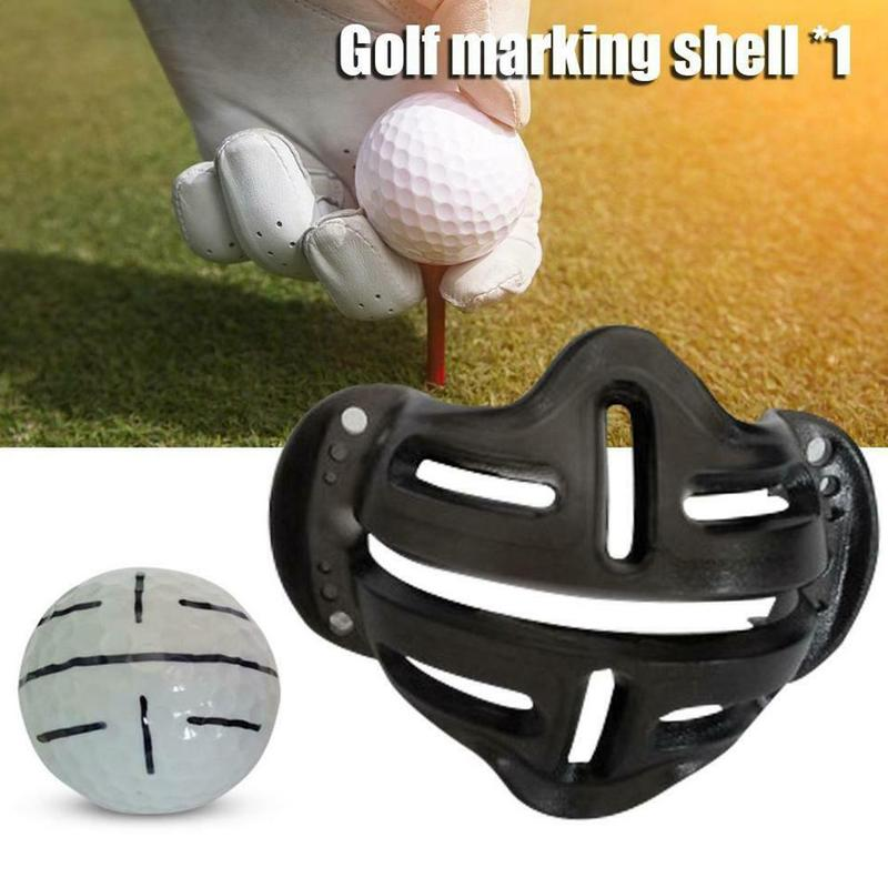 Golf Ball Alignment Line Marker Template Golf Scriber Locate Putter Direction Accessories Golf Swing Trainer Putting Marks Shell