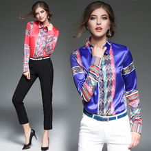 Women Tops 2017 New Blouse Shirts Fashion Loose Summer Long Beach Cover Up Sleeved Floral Knitted Blue Elegant Ferfect