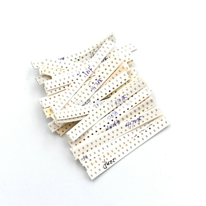 0603 SMD Capacitor Assorted Kit ,36 Values*20pcs=720pcs 1pF~10uF 1608 Samples Kit Electronic Diy Kit New