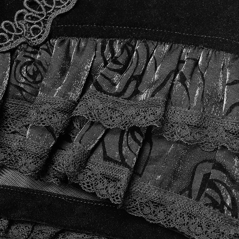 Punk Rave gótico moda novedad golondrina cola encaje victoriano Sexy Palacio mujeres Shorts falda Visual Kei WK354 - 6