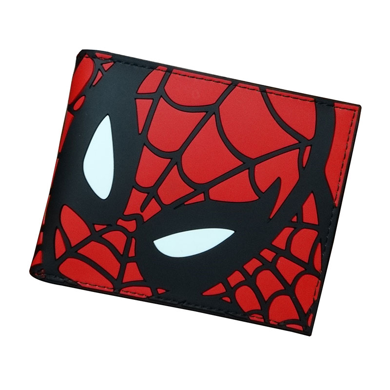2019 New Designer Wallet Spiderman PU Leather Card Bags Men Casual Purse Gift Anime Cartoon Spider PVC Short Wallets Portafoglio
