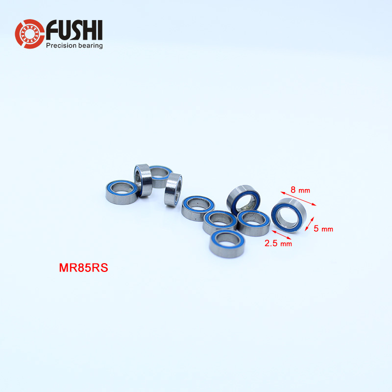 Rubber Sealed Ball Bearings Bearing MR106RS ORANGE 6x10x3 mm 10Pcs MR106-2RS