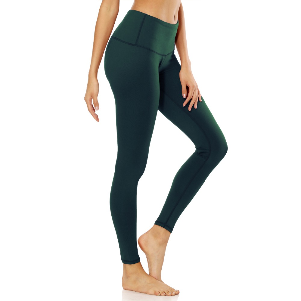 2018 Women Sport Tight Pants Plus Size 2XL Solid Elastic Waist Slim Stretch Fitness Yoga Running Gym Exercise Workout Leggings