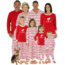 3e8c0a6e3f Set Christmas Family Dads Mom Baby Pyjamas Long Sleeve Print PJ'S Reindeer  Hot(China)