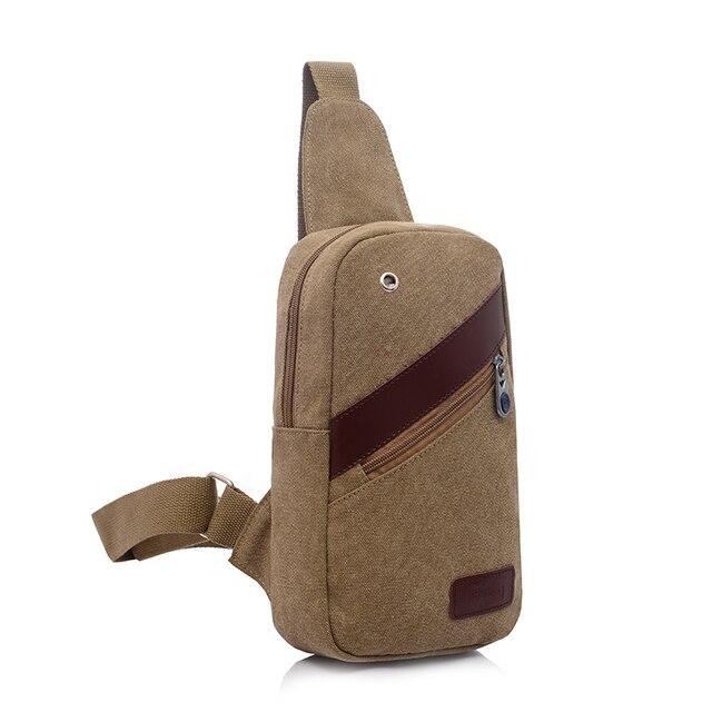 Холст Груди Слинг Пакет Одного Плеча Человек Случайный Путешествия Военная Сумка ZZ15