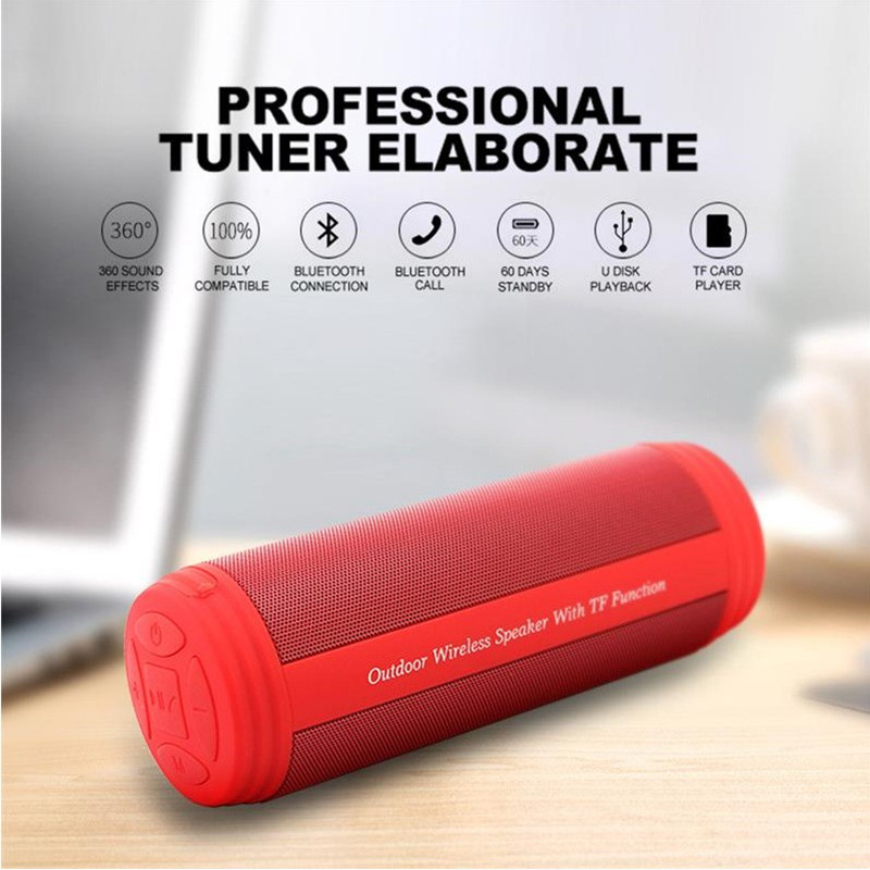 Image 2 - Wireless Bluetooth Speakers Best Waterproof Portable Outdoor Loudspeaker Mini Column Box Speaker Design For iPhone Xiaomi Huawei-in Portable Speakers from Consumer Electronics