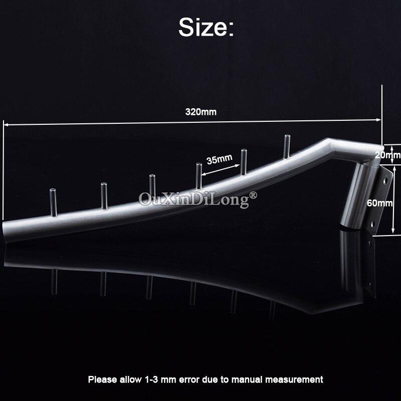 DHL доставка оптовая продажа 100 шт. Нержавеющая сталь складной настенный навесной одежда вешалка стойка одежда крючки оборудование JF1682