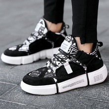 Canvas shoes for women Mixed colors Lace-up Women sneakers Large size 44 Shoes woman Black/Gary/Pink Platform
