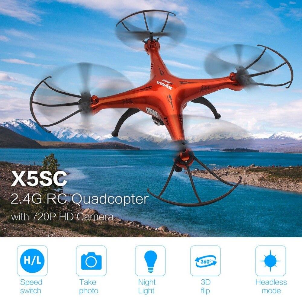 SYMA X5SC RC Quadcopter 2.4G Drone Smart Aircraft with 720P HD Camera Headless Mode 3D Flips Mode DronesSYMA X5SC RC Quadcopter 2.4G Drone Smart Aircraft with 720P HD Camera Headless Mode 3D Flips Mode Drones