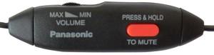 Image 2 - Free Shipping P a n a s o n i c KX TCA93 ear hook headset 2.5mm Plug Corded  Headset Volume Control Adjustable Mic MUTE