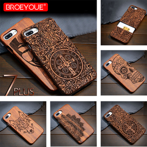 Image 1 - Full Wood Case For Samsung Galaxy S6 S7 S8 S9 Edge Plus 100% Retro Nature Bamboo Case For Samsung Galaxy Note 8 9 For iPhone XR
