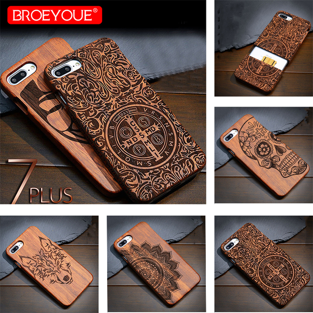 Full Wood Case For Samsung Galaxy S6 S7 S8 S9 Edge Plus 100% Retro Nature Bamboo Case For Samsung Galaxy Note 8 9 For iPhone XR